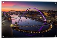 High View Twilight Tyne, Acrylic Print