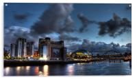 Darkside Tyneside Quayside, Acrylic Print
