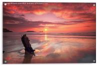 SHIPWRECK SUNSET, Acrylic Print