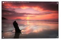 Sunset shipwreck, Acrylic Print