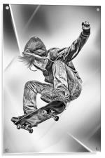 Skateboard Jump, Acrylic Print