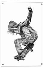 Skateboarding Jump, Acrylic Print