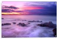 Guille Purple Sunset, Acrylic Print