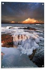 Dunbar Evening Sea Waves, Acrylic Print