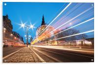 Edinburgh Festive Lights, Acrylic Print