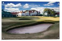 18th Green Muirfield Golf Club, Acrylic Print