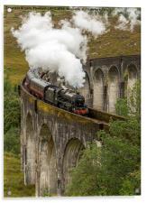 Glefinnan Viaduct Train, Acrylic Print
