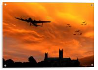 Lancaster Lincoln Sunset, Acrylic Print