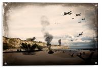 Omaha Beach, Acrylic Print