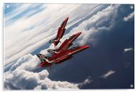 Red Arrows Trio, Acrylic Print