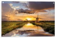 Over The Mills, Acrylic Print