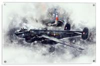 Avro Shackleton AEW.2 Painting, Acrylic Print