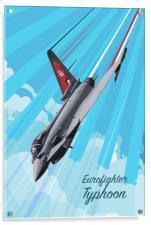 RAF100 Typhoon Pop Art, Acrylic Print