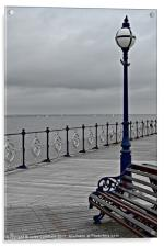 Post On The Pier, Acrylic Print