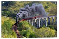 The Jacobite train, Acrylic Print