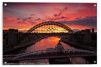 Tyne Bridge at Sunrise II, Acrylic Print