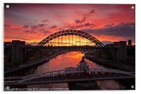 Tyne Bridge at Sunrise III, Acrylic Print