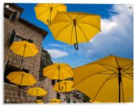 Umbrellas, Acrylic Print