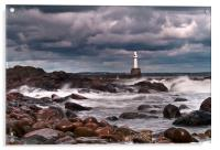 Aberdeen South Breakwater Light, Acrylic Print