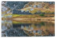 Cwmorthin cottages, Acrylic Print