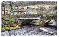 Hebden Bridge in Autumn, Acrylic Print