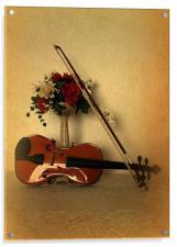 A Violin for Christmas, Acrylic Print