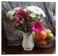 A Vase of Flowers, Acrylic Print