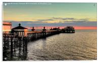 North Pier at Sunset, Acrylic Print