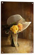 If you can't get ahead get a hat ., Acrylic Print