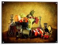Vinatge style still life ., Acrylic Print