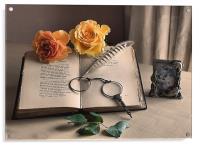 Still life with Roses., Acrylic Print
