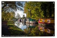 Monmouthshire and Brecon Canal at Goytre, Acrylic Print