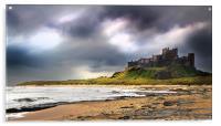 Stormy sky over Bamburgh Castle, Acrylic Print