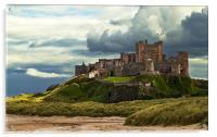 Cloudy Bamburgh Castle, Acrylic Print