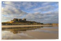 Bamburgh Castle Reflection, Acrylic Print