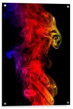 Smoke swirl4, Acrylic Print