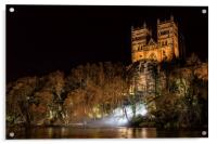 Durham Cathedral Fogscape, Acrylic Print
