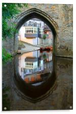 elvet bridge reflection, Acrylic Print