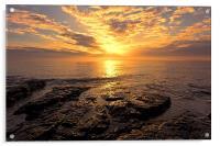 rocky sunrise, Acrylic Print