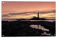 St Mary`s lighthouse, Acrylic Print