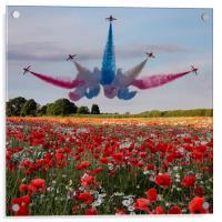 Red Arrows, Acrylic Print