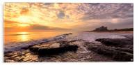 Bamburgh Sunrise Panaromic, Acrylic Print