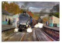 Steam at Grosmont, Acrylic Print