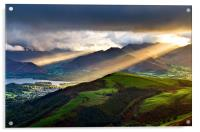 Sunrays Over Keswick, Acrylic Print