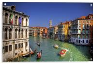 Light Traffic on the Grand Canal, Acrylic Print