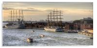 When 4 masts are just not enough, Acrylic Print