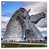 The Kelpies, Acrylic Print