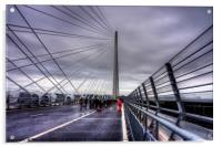 The North Tower of the Queensferry Crossing, Acrylic Print