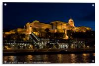 Buda Castle from the Danube, Acrylic Print