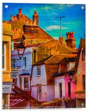 "Hastings Old Town ""Paintography"", Acrylic Print"
